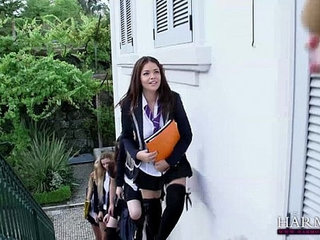 HARMONY VISION Schoolgirl Lesbians