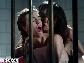 Lesbian sex in prison with Annie Cruz and Blake Eden
