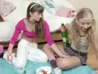 Brother Seduce his Step sister to get first Lesbian Sex